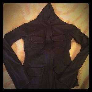 Black zip up jacket, size small. Uniqlo +J